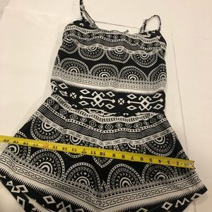 Tribal lightweight romper swimsuit cover up large